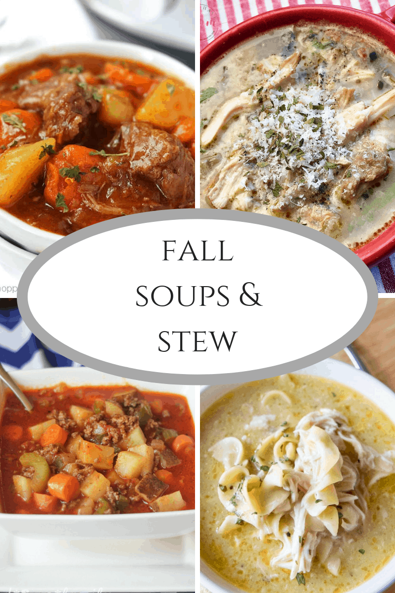 Fall Soups and Stew At Inspire Me Monday