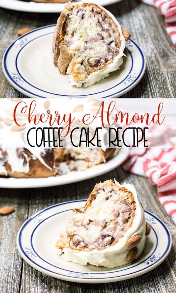 Cherry Almond Coffe Cake is the perfect holiday treat for breakfast or brunch!
