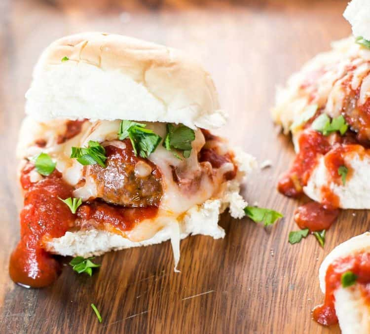 Spicy Meatball Sliders!