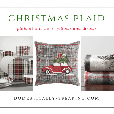 Christmas Plaid Home Decor Accessories