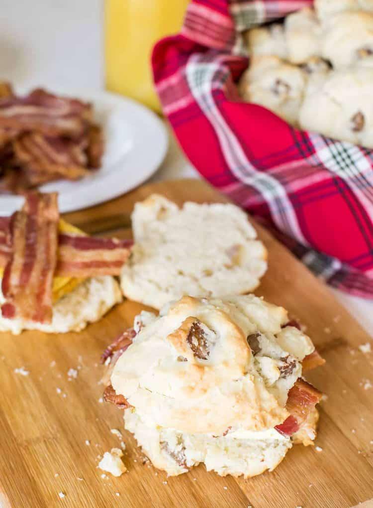 Sausage Biscuit Breakfast Sandwiches