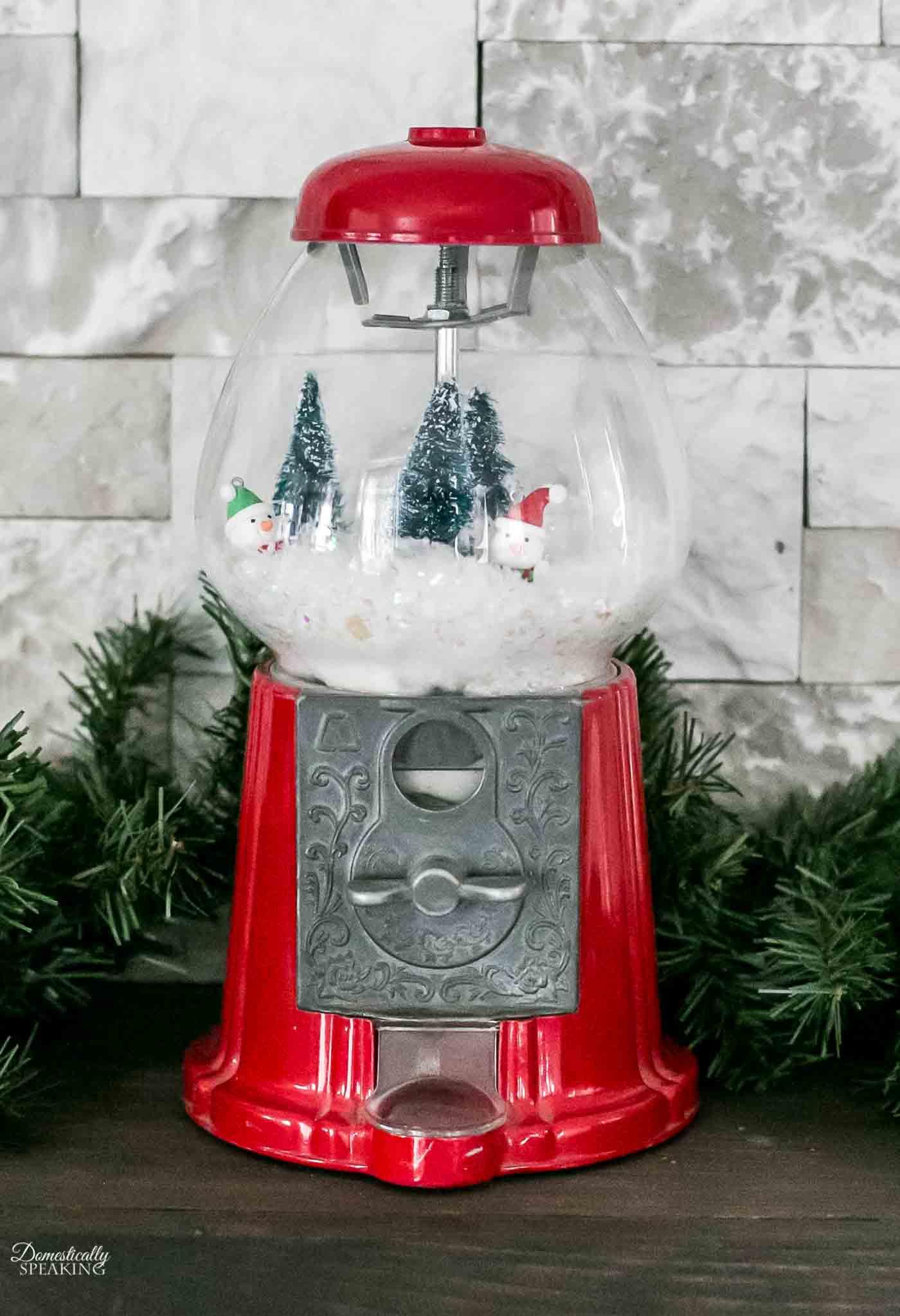 Winter Wonderland Gumball Machine