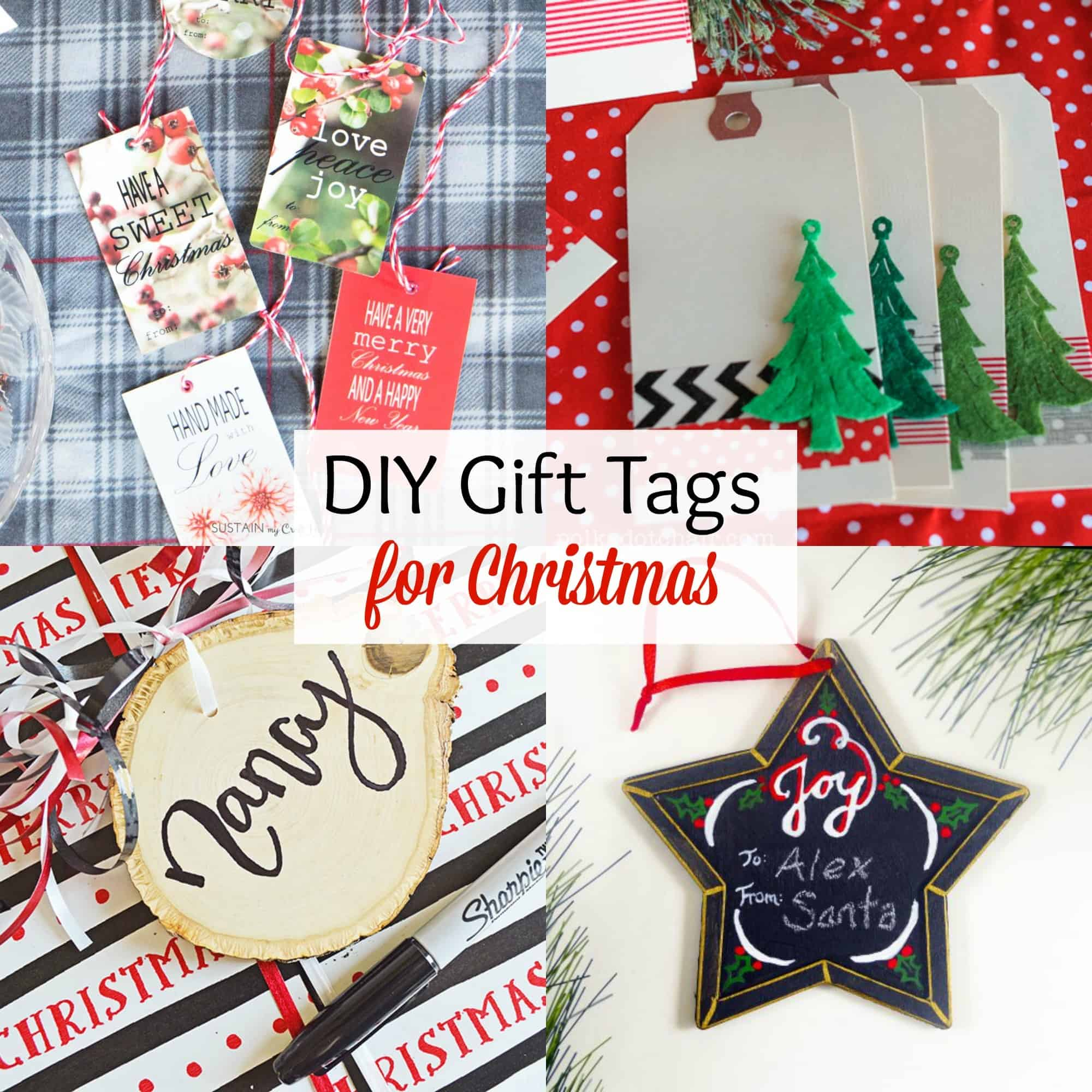 DIY Christmas Gift Tags - Domestically Speaking