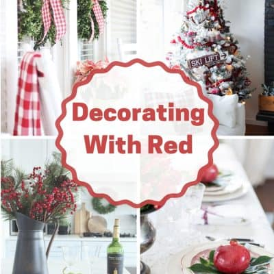 Red Christmas Decor Ideas at IMM #247