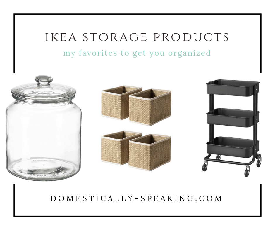 These are my favorite IKEA Storage Items that are great for helping to get your home organized.