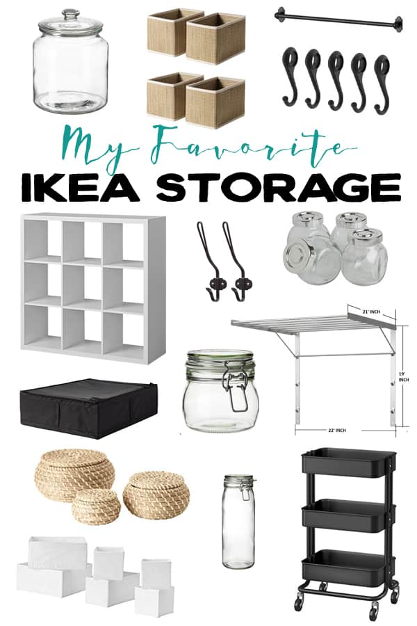 My Favorite IKEA Storage Products.  These items are great for organizing different areas of your home.