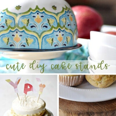 Cute DIY Cake Stands