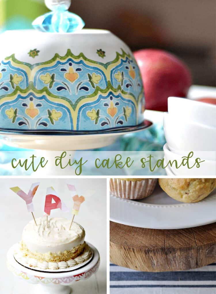 Cute DIY Cake Stands - a fun craft you can make yourself, perfect for a gift or a party.