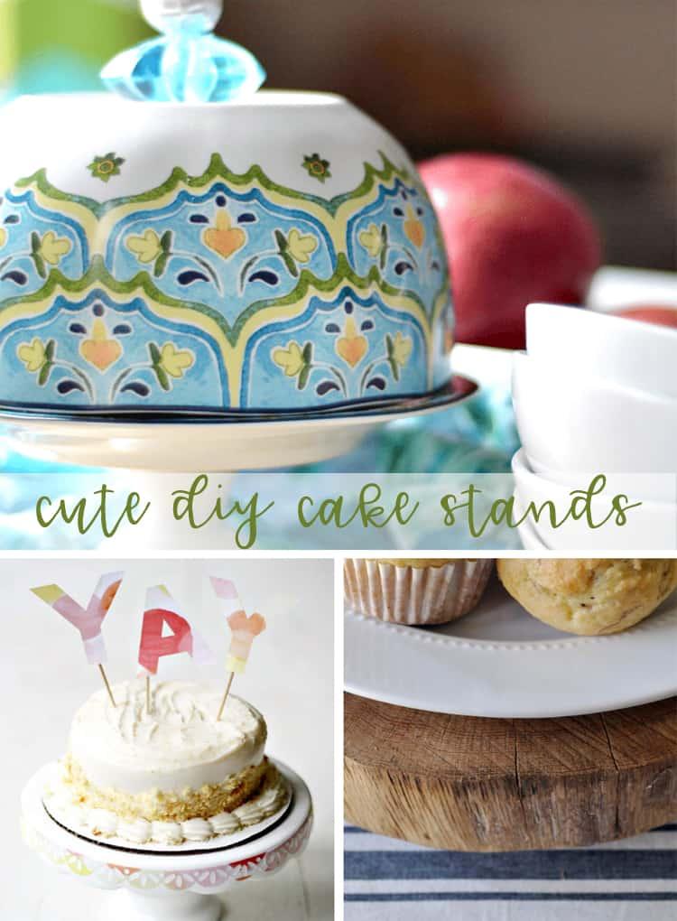 Cute DIY Cake Stands