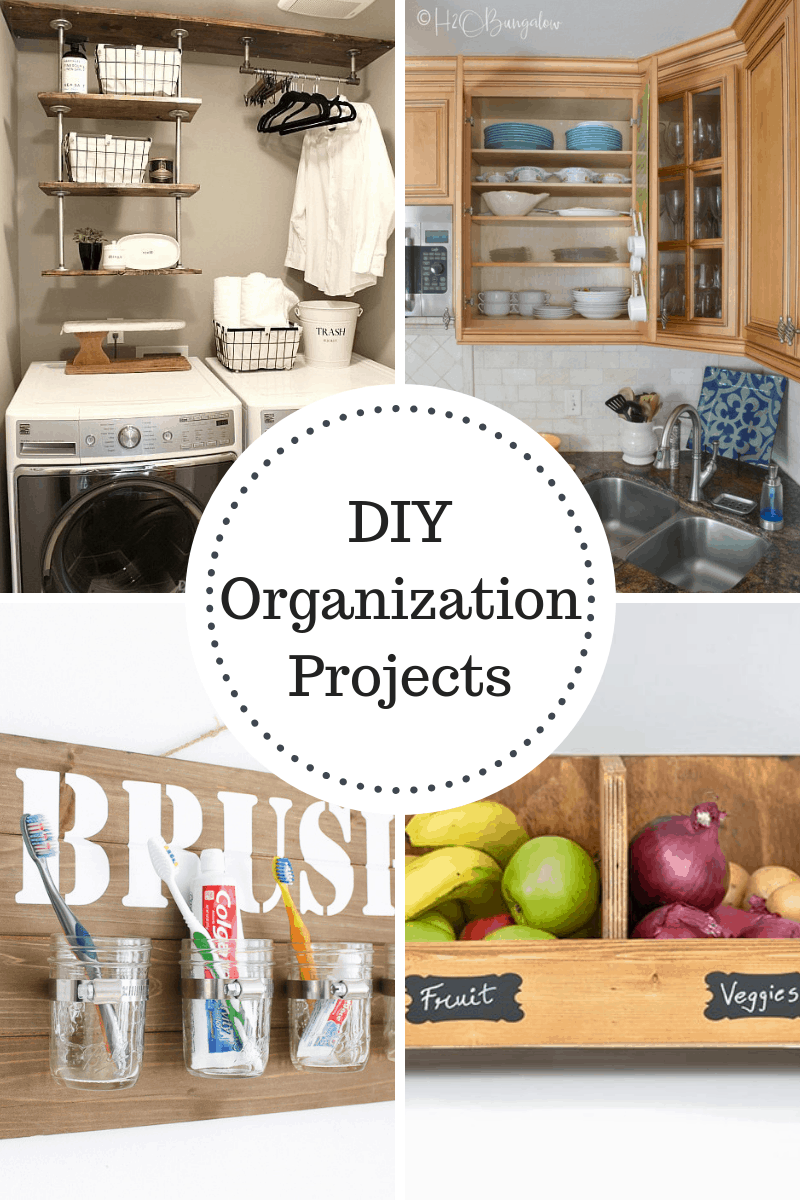 DIY Organization Projects - great ideas for your Laundry, Kitchen, Bathroom and Pantry!