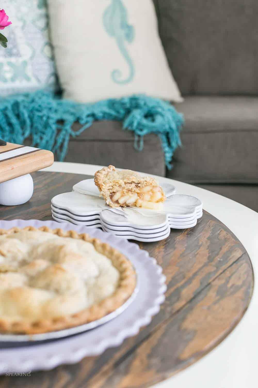 Apple Pie on a flower plate