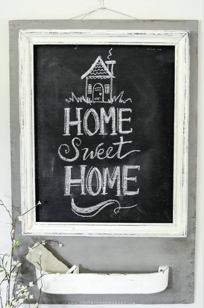chalkboard message center