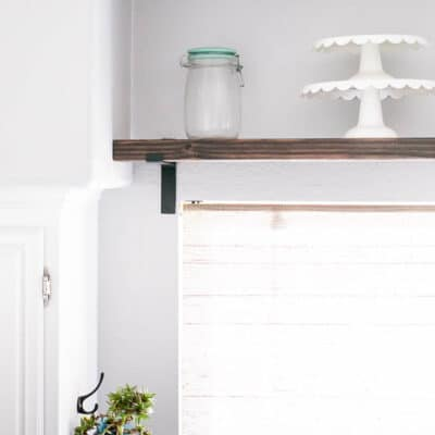 DIY Chunky Farmhouse Industrial Shelf