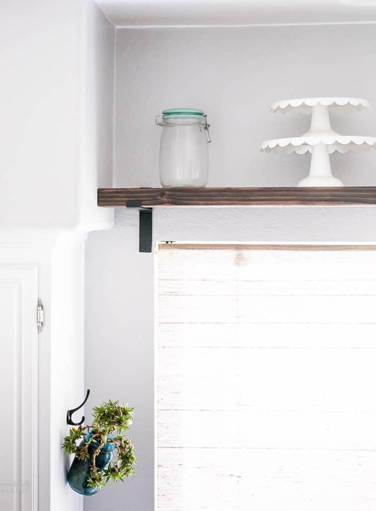 DIY Chunky Farmhouse Industrial Shelf