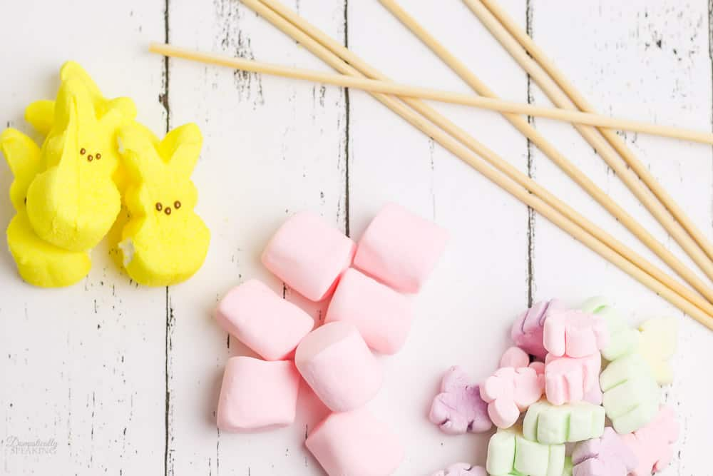 easter marshmallows and skewers