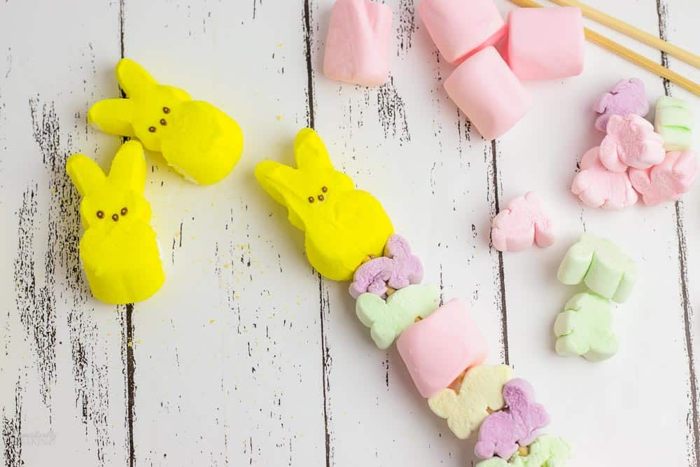 Cute Easter Marshmallow kabob