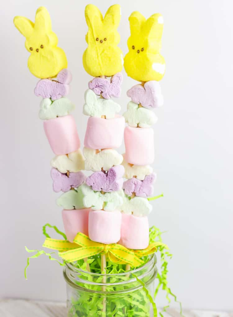 Marshmallow Peeps Bunny Kabobs