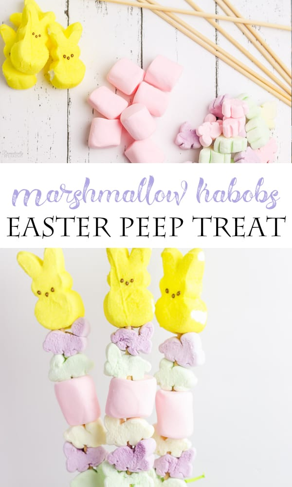 Easter marshmallows on a stick