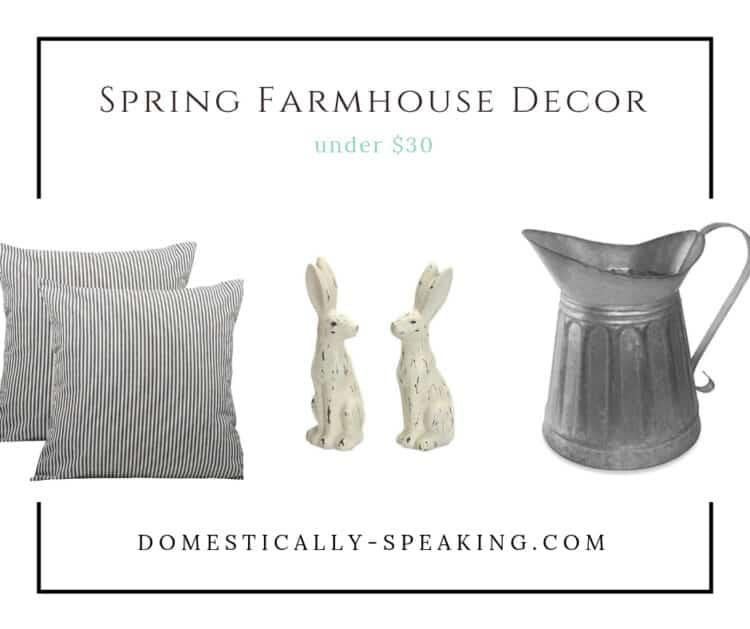 Spring Farmhouse Decor under 30 dollars