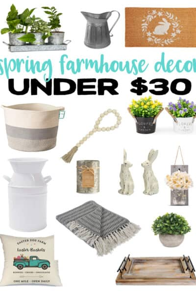 Spring Farmhouse Decor under 30 dollars