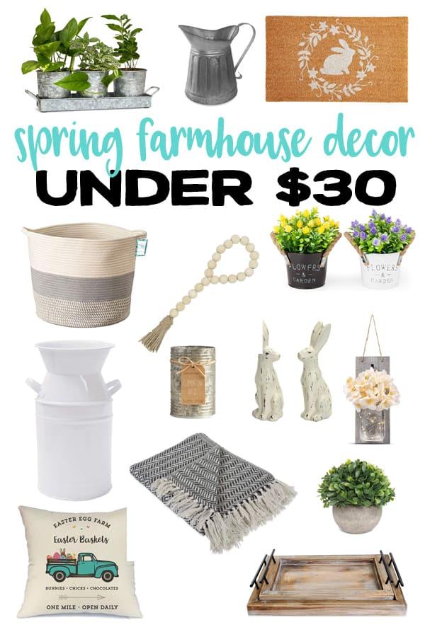 Spring Farmhouse Decor Pinterest image