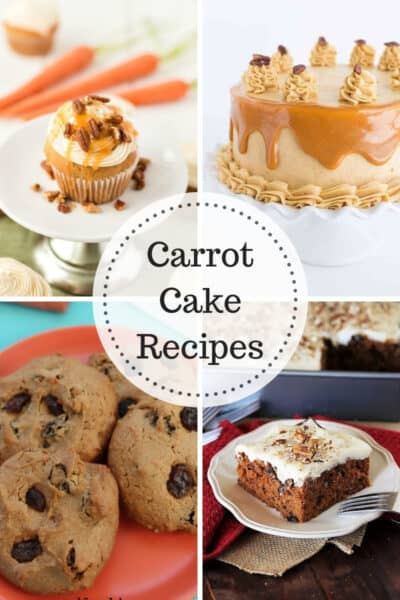 Cake Cake Recipes!!! Delicious carrot cake cupcakes, carrot cake cookies and carrot cake with caramel frosting and cream cheese frosting.