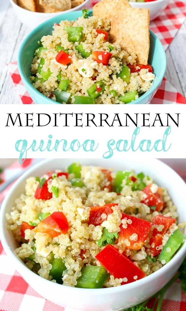 Mediterranean Quinoa Salad Pinterest Image