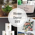 Home Decor DIY Projects - terrarium, storage, hanging planters, and a DIY tray.