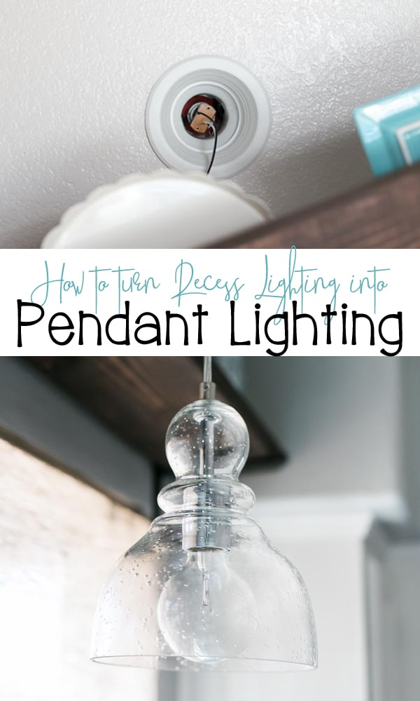 How to Turn Recess Lighting into a Pendant Light with this easy tutorial.