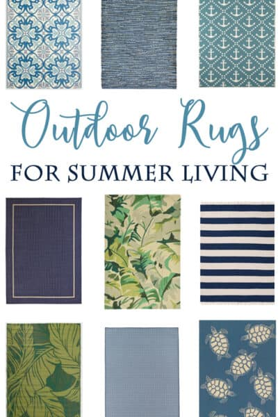 Improve your outdoor living with these Blue and Green Outdoor Rugs