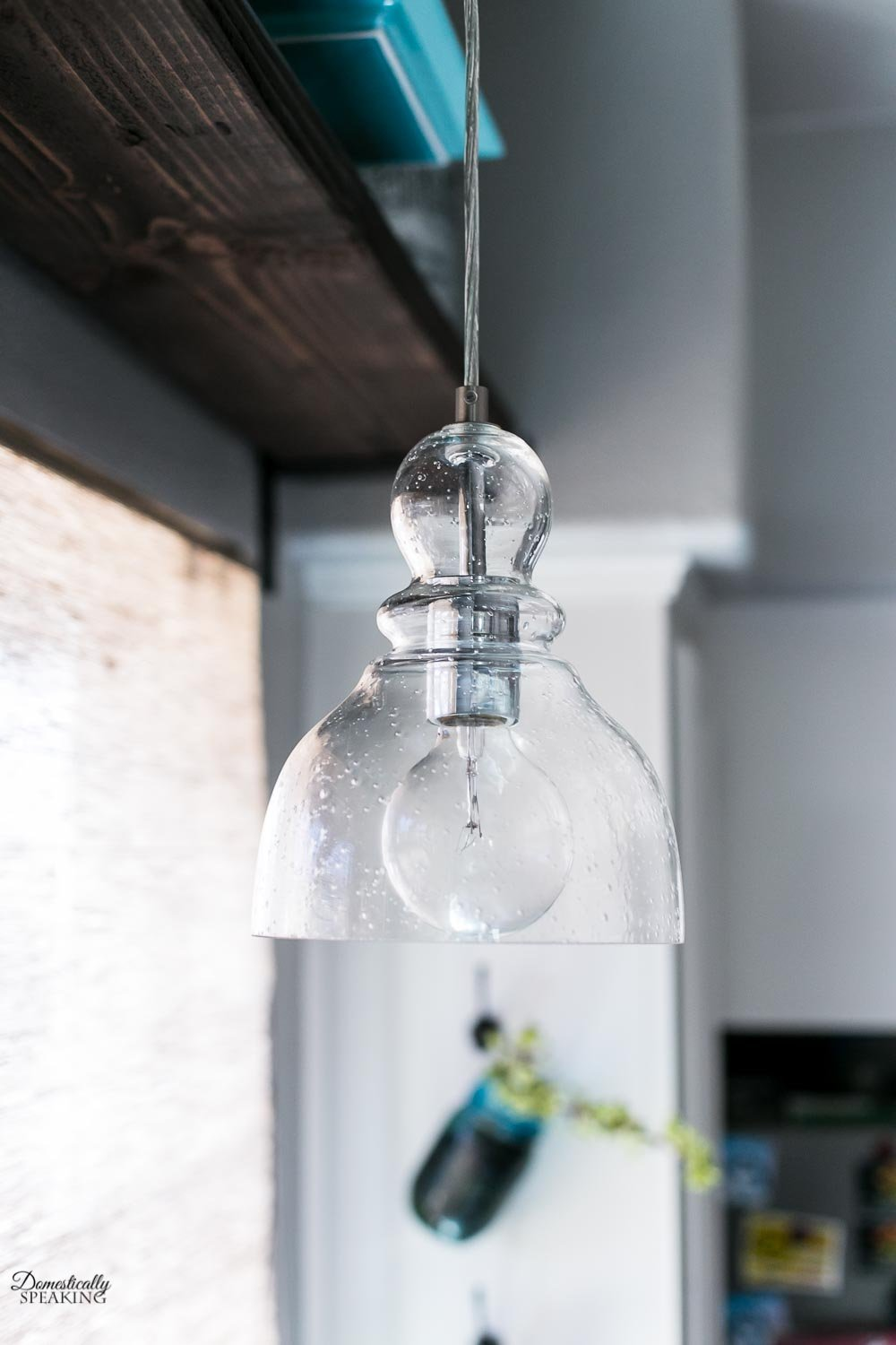 Seeded Glass Mini Pendant Light