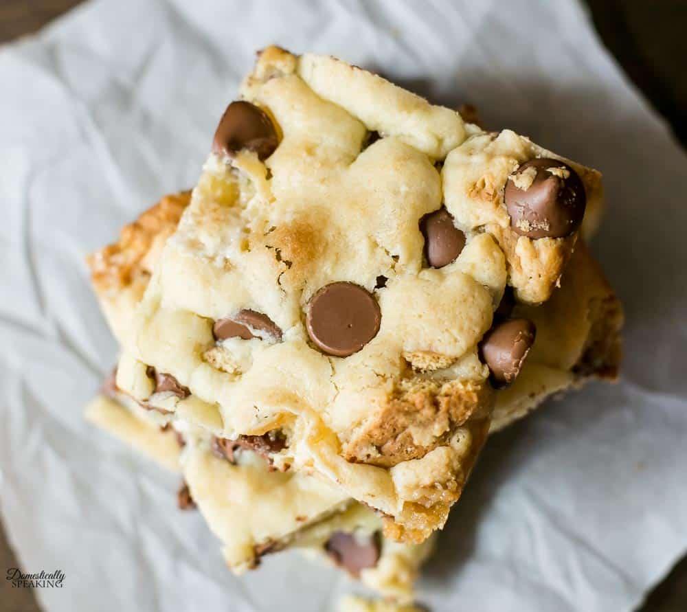 Cake Mix Smores Bar Cookies