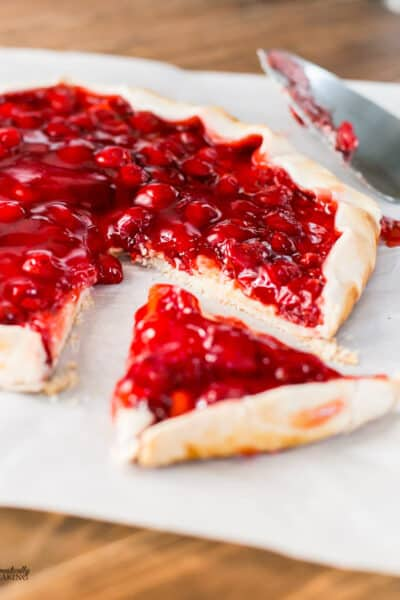 Easy to make Cherry Cheese Cream Galette is a delicious pastry.