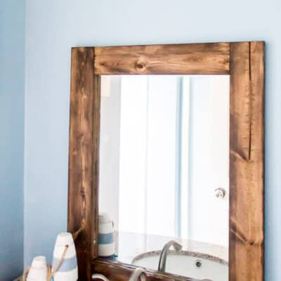 DIY Rustic Bathroom Mirror