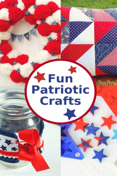 Fun Patriotic Crafts in red, white and blue!