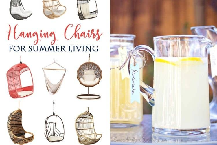 Hanging Chairs and DIY Beverage Tags