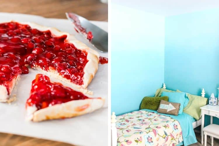 Cherry Cream Cheese Galette and How to Ombre Bedroom Walls
