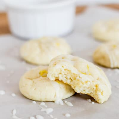 The Best Lemon Cookie made with cream cheese - so it's so soft!