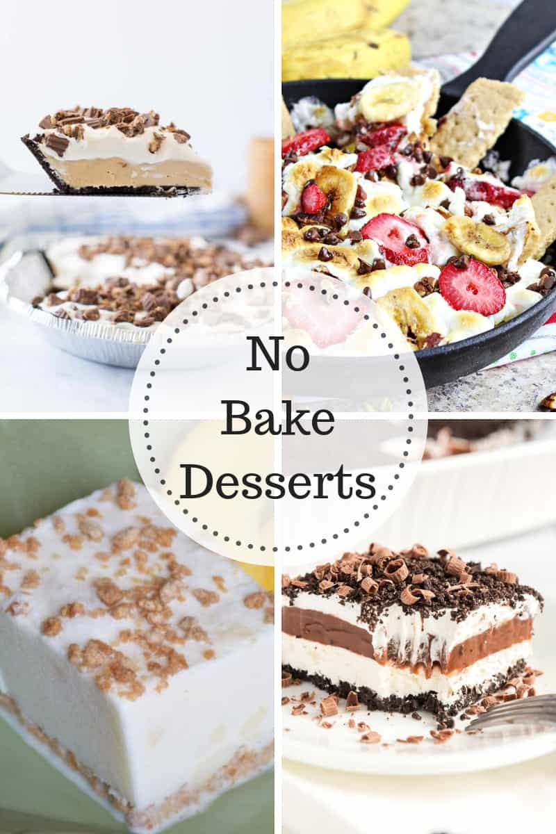 No Bake Desserts perfect for those warm summer months.
