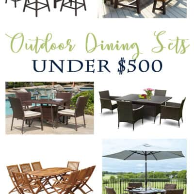 Outdoor Dining Sets Under 500