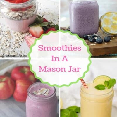 Smoothies in a Mason Jar