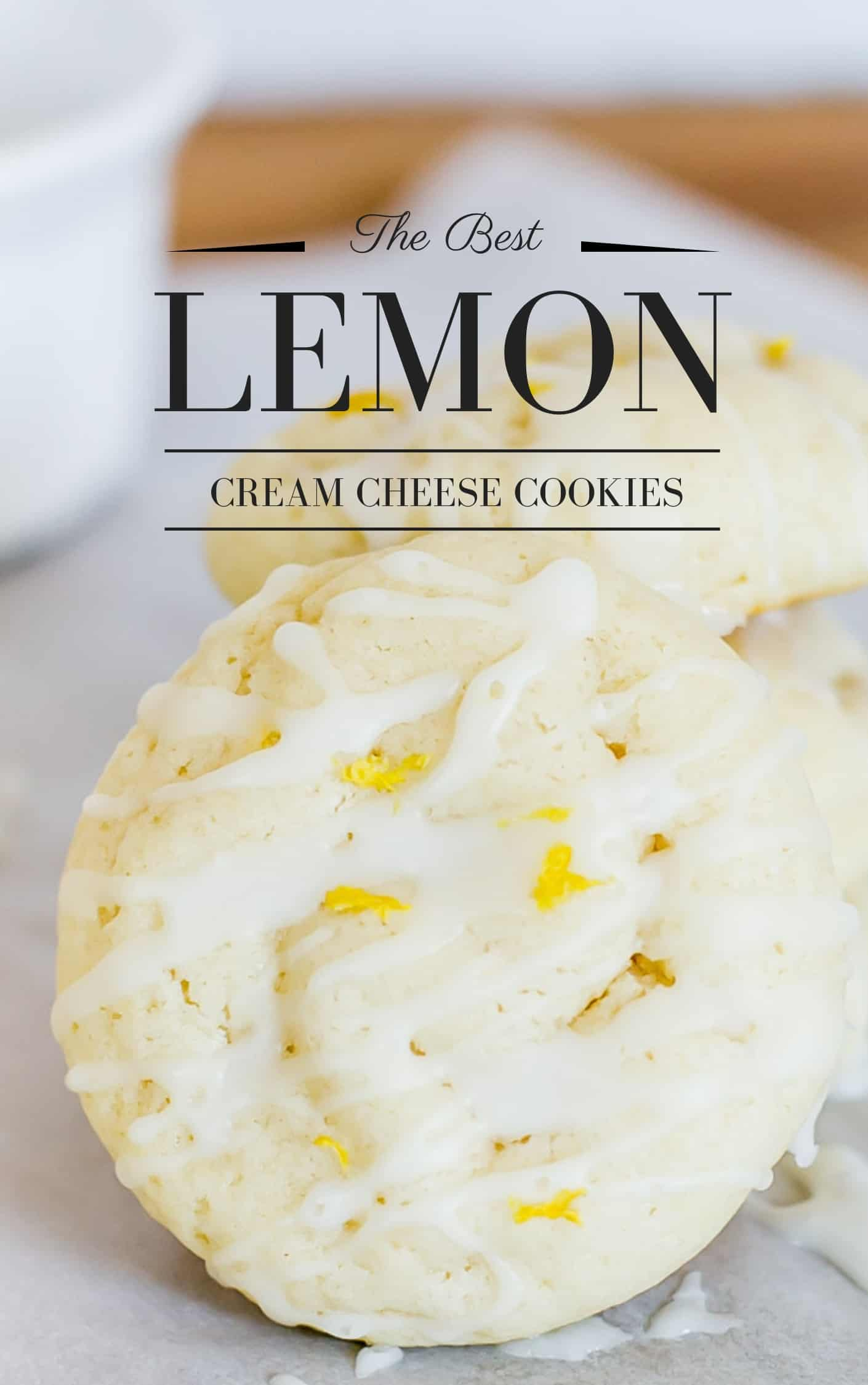 The Best Lemon Cookie made with cream cheese so it's so soft with great lemon flavor.