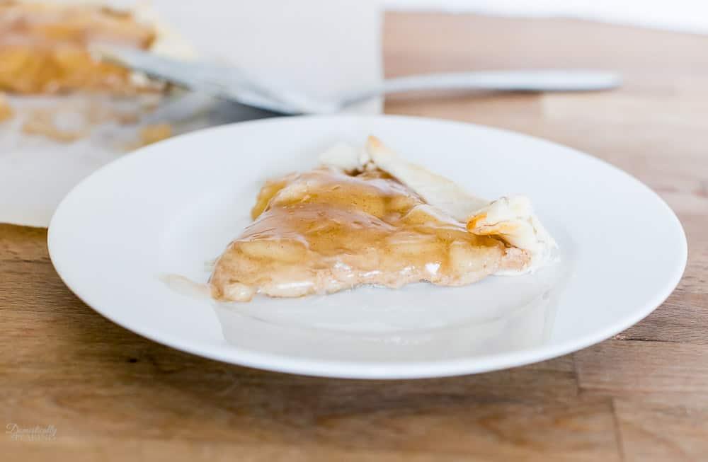 A slice of Apple Cinnamon Cream Cheese Galette