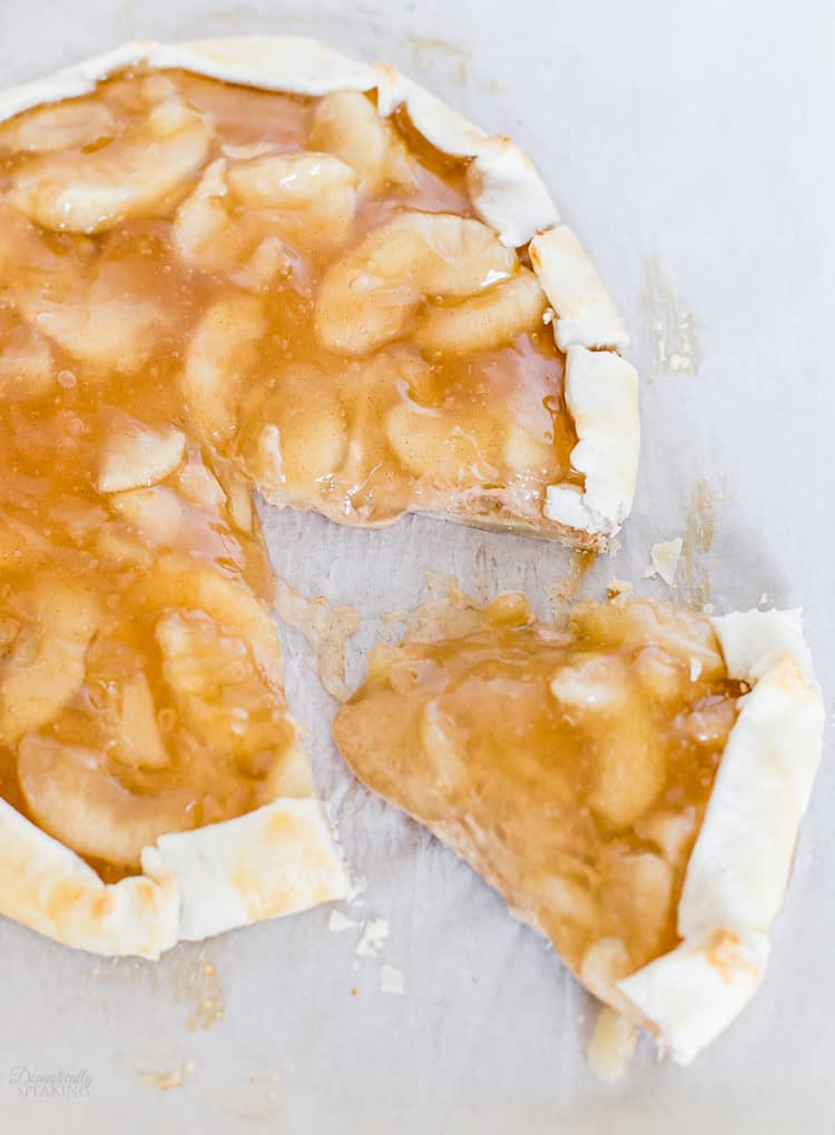 Apple Cinnamon Cream Cheese Galette