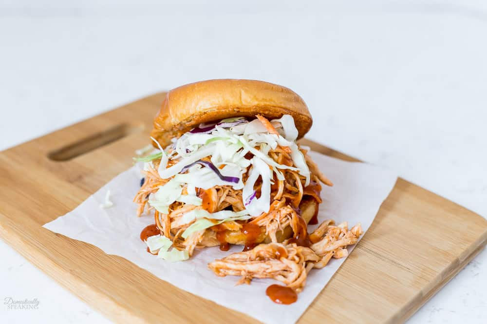The Ultimate Pulled BBQ Chicken Sandwich with Parmesan Crusted Bun