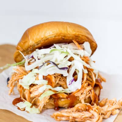 BBQ Chicken Sandwich with Parmesan Crusted Bun