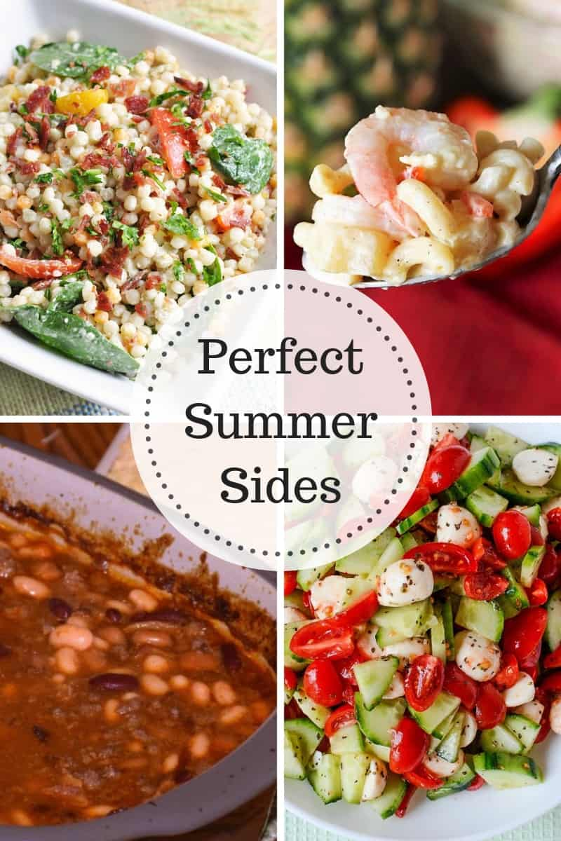 Perfect Summer Sides - delicious and salads, shrimp and baked beans