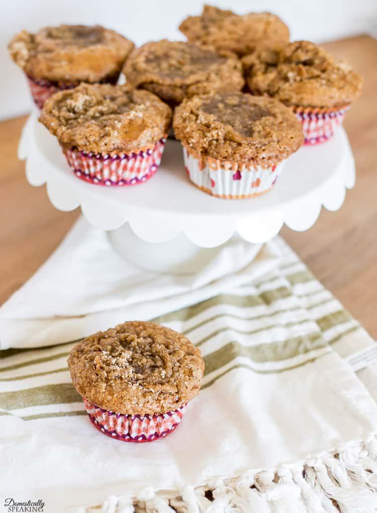 Spiced Pumpkin Streusel Muffins