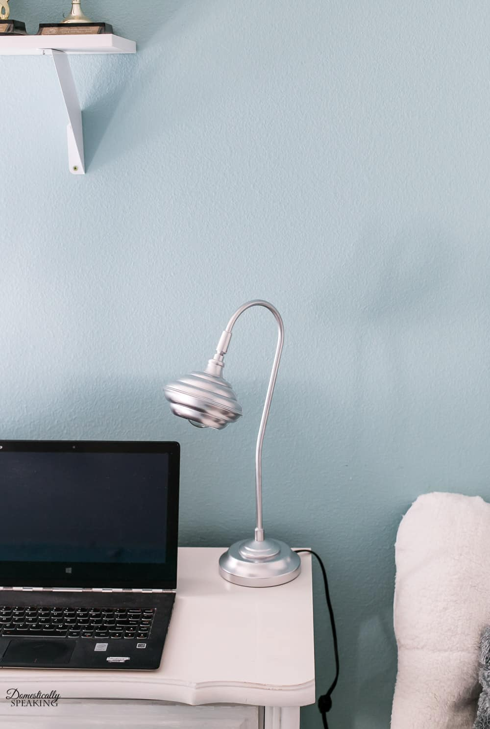 Spray Painted Chrome Desk Lamp