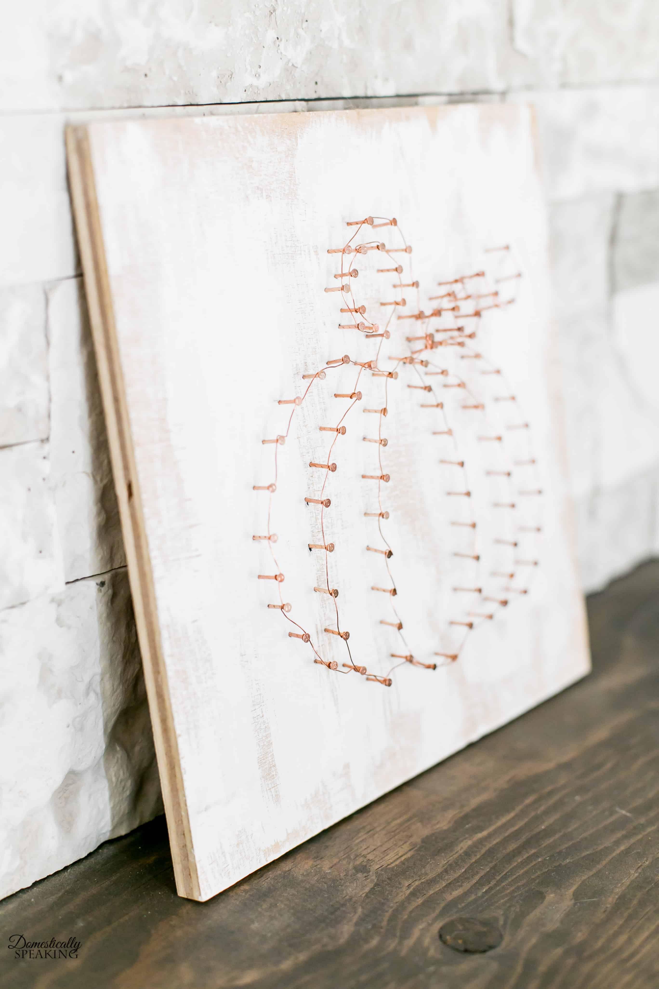 DIY Copper Wire Pumpkin Art